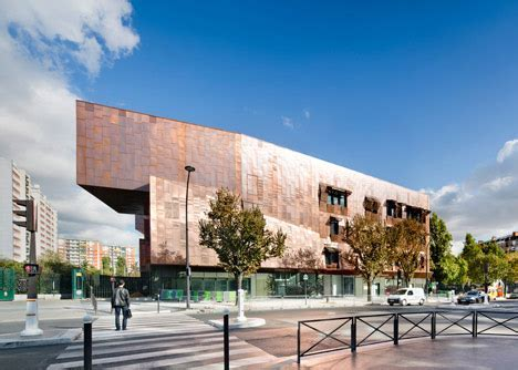 Paris music school by Basalt Architecture features copper