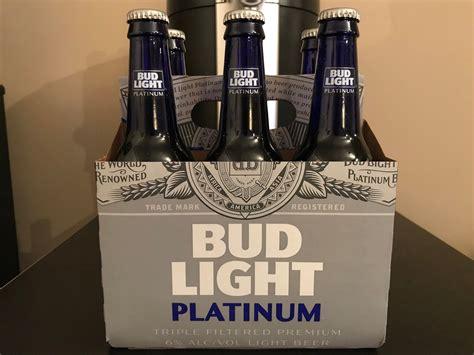 Percent Of Alcohol In Bud Light Platinum