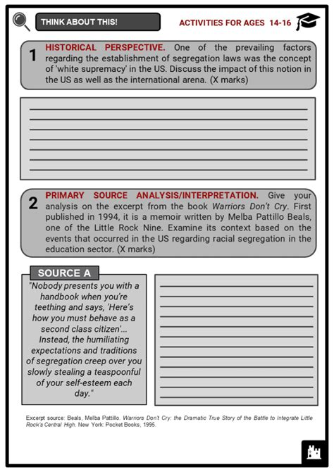jim crow era facts worksheets summary system failure