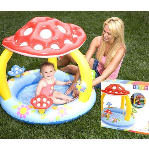 intex baby pool in pilzform planschbecken mit dach baby schwimmbad kinderbecken ebay - Baby Pool Mit Dach