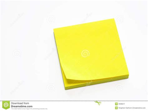 yellow sticky pad royalty  stock photography image