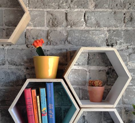 Floating Honeycomb Shelves By Handmade Riot Bookcase Porn