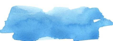 blue watercolor brush stroke png transparent vol