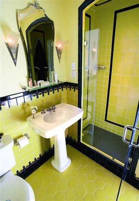 vintage yellow bathroom tile ideas  pictures