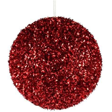 cut foil glitter ball lime green christmas ornament