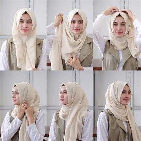 tutorial hijab pashmina dijamin bikin penampilanmu lebih menarik  kekinian