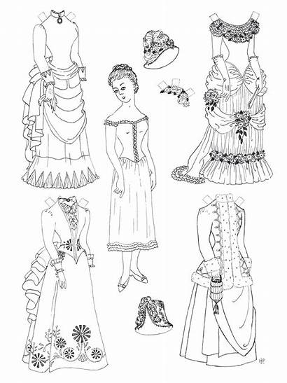 Paper Dolls Doll Coloring Pages Printable Printables