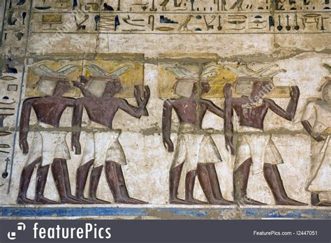 Photo Of Ancient Egyptian Priests Painting