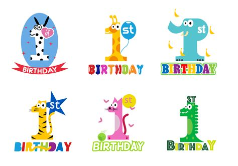 Birthday svg cut files, including boxes and cards. Free 1st Birthday Vector - Download Free Vectors, Clipart ...