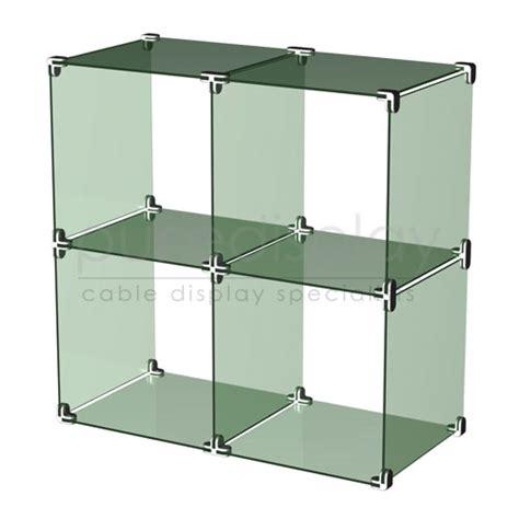 glass cube display glass cube display set 2x2 1226