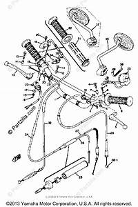 Yamaha Motorcycle 1973 Oem Parts Diagram For Handle