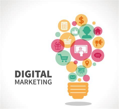 Digital Marketing Materials by Digital Marketing Bulb Element Vector Material Download