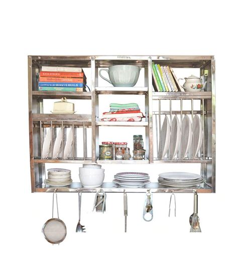 metal rack for kitchen sink buy bharat gloss finish stainless steel kitchen rack 30x42