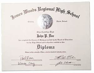 free high school diploma template with seal