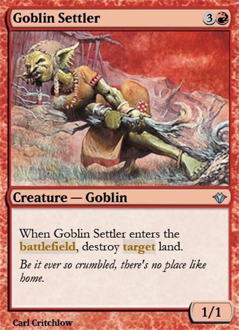 goblin charbelcher vintage deck goblin settler mtg card