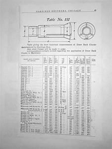 Thread Size Chart Help Identify Van Norman Collets