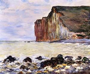 Les Petites Dalles : cliffs of les petites dalles 1881 claude monet ~ Melissatoandfro.com Idées de Décoration
