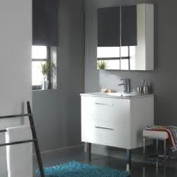Meuble Salle De Bain 30 Cm : meubles salle de bain 80 cm meuble 2 tiroirs coloris blanc ~ Melissatoandfro.com Idées de Décoration