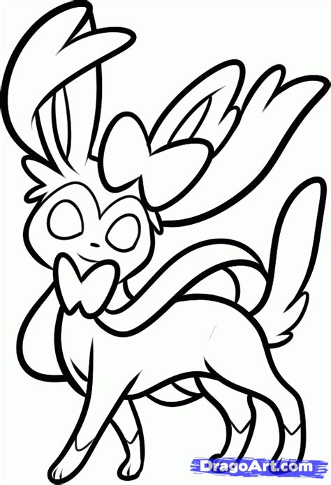 Sylveon Free Coloring Pages