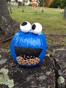 Cookie Monster Pumpkin Decorating without Carving