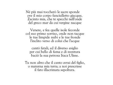 Analisi Testo Foscolo by A Zacinto Analisi Testo E Commento Poesia Infonotizia It