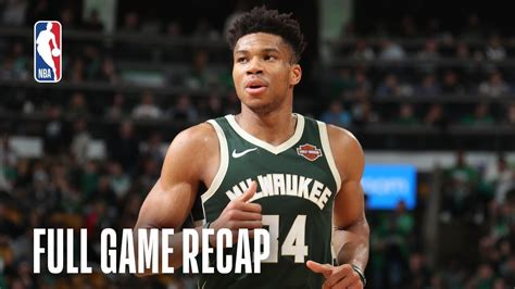BUCKS vs CELTICS | Giannis Antetokounmpo Leads Milwaukee's ...