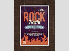 Drucke selbst! Flyer Rockparty kostenlos gestalten und drucken