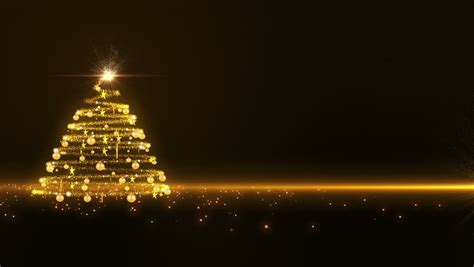 gold lights christmas tree stock footage video 2852917
