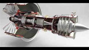 3d Model Of A Jet Engine