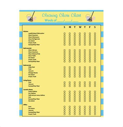 chore chart template  sample  format