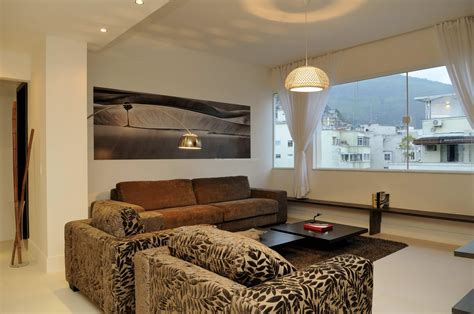 Living Room With American Kitchen by Luxury Apartment In De Janeiro Copacabana Object No