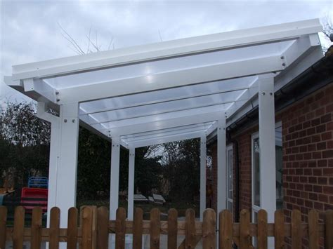 3m powder coated aluminium free standing canopy lean to