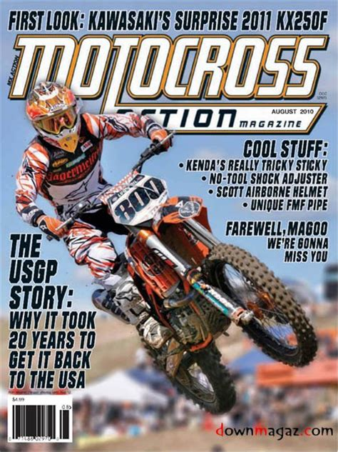 motocross action mag motocross action august 2010 download pdf magazines