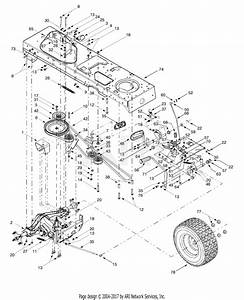 Mtd 14av808p016  2000  Parts Diagram For Drive  Frame