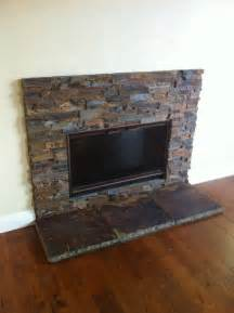 Black Slate Fireplace Surround by Sweet Stacked Slate Fireplace Living Room Pinterest