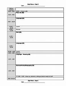 5 day rotary day plan template by canadian teacher lady tpt With day plan template for teachers