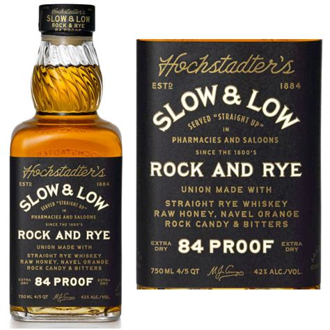rock and rye whiskey hochstadter s slow low rock and rye whiskey 750ml