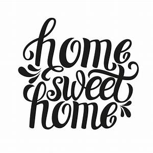 home sweet home typography custom wallpaper With house lettering script