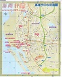 高雄市中心街道地圖 - 台灣地圖 Taiwan Map - 美景旅遊網