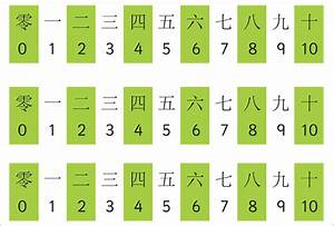 Chinese Numbers 1 10 New Calendar Template Site