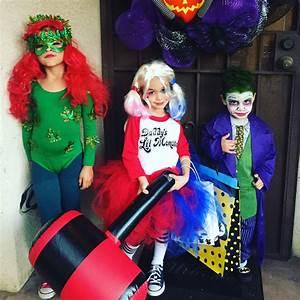 Schnelle Einfache Verkleidung : poison ivy harley quinn and joker batman villians kids homemade costumes halloween diy ~ Bigdaddyawards.com Haus und Dekorationen