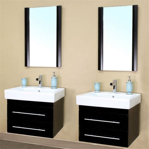 2 sink bathroom vanity 48 inch double sink wall mount bathroom vanity in black