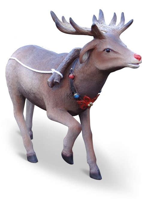christmas prop hire 187 short antler reindeer statue