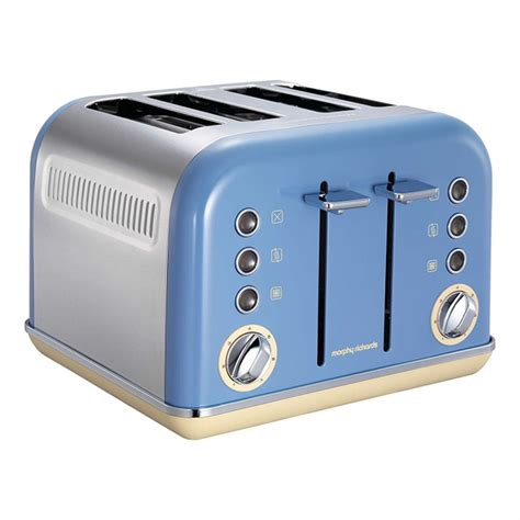 blue toasters morphy richards 242007 accents 4 slice cornflower blue toaster
