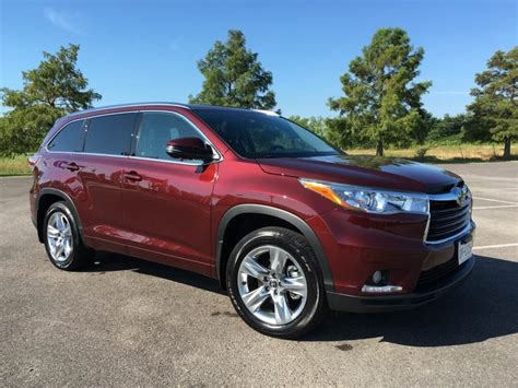 toyota highlander limited  row suv