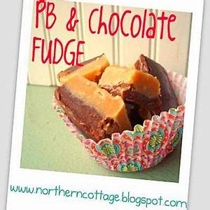 Peanut Butter and Chocolate Fudge Edible Gifts}