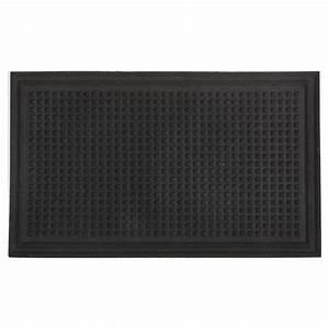 tapis en caoutchouc recycle pour l39exterieur noir rona With tapis extérieur caoutchouc