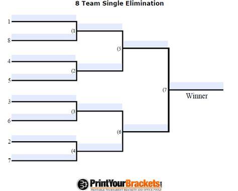 fillable seeded  team tournament bracket editable bracket