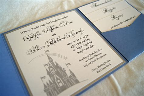 Fairytale Castle Pocketfold Wedding Invitation Sample