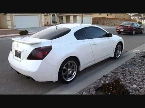 white nissan altima coupe   gunmetal volk wheels pioneer dvd youtube